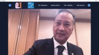 Menteri Perindustrian Agus Gumiwang Kartasasmita memberikan keterangan kepada pers secara virtual usai melakukan rangkaian pertama pertemuan dengan industri dan counterpart di Jepang